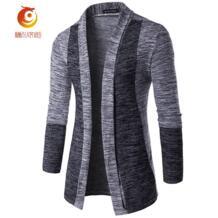 Мода 2017 г. Для мужчин свитер брендовая одежда лоскутное кардиган вязаный свитер Для мужчин Тонкий Топ с длинным рукавом плюс Размеры свитер No name 32793363571