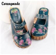 -обувь ручной работы из воловьей кожи в народном стиле, обувь в стиле ретро mori girl, женская модная обувь, повседневные тапки Careaymade 32731955663