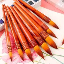 1 шт. нейлоновые волосы остроконечные акварельные краски кисти ручной краски ed акриловая кисть для рисования школы художника поставки 40RT BGLN 32814577498