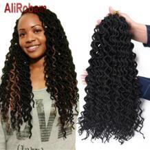 AliRobam 24 корни упаковке искусственная Locs вьющиеся крючком косы синтетических богиня дреды волос черный/коричневый/красный вязанная косами No name 32902680354