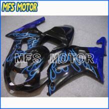 Часть мотоцикла ABS Инъекции обтекатель комплект для SUZUKI GSXR 1000 2000 01 2002 Blue Flame Black No name 32655314694