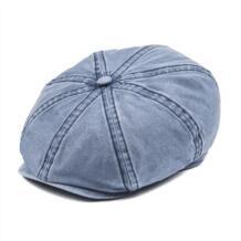 Темно-синие хлопок газетчик Кепки Для мужчин Для женщин 8 Панель Плющ плоская Кепки s драйвер Бейкер мальчик шляпа Солнцезащитная Gatsby берет Шапки 160 VOBOOM 32948151185