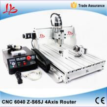 CNC 6040Z-S65J 4 поворотные оси с ЧПУ маршрутизатор гравер машина лучше для металла, работая размер 600*400 мм VASSAL 32799009563