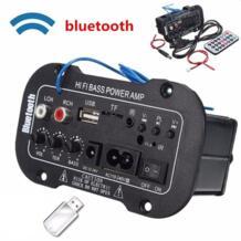 2018 Новые 5 шт/упаковка-дюймовый мульти-функциональные карты цифровой Bluetooth домашний автомобильный усилитель автомобиля Bluetooth Hi-Fi бас Мощность AMP Лидер продаж No name 32835325519