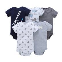 Летний детский комбинезон, боди, костюмы, одежда с короткими рукавами для мальчиков и девочек, комплект одежды для новорожденных, модный костюм для новорожденных, унисекс, 2019 хлопок BABY OSCAR`S 32816208404