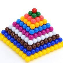 ОСГТ квадратный число обучение Пирамида Игрушечные лошадки, Монтессори материалы Пособия по математике преподавания, 1-10 Бусины Простыни No name 32306945847
