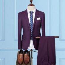 (Куртка + брюки) грудь Полотенца костюм Для мужчин новинка 2017 года Формальные Для мужчин Бизнес Юбочные костюмы для женщин Slim Fit плюс Размеры 3XL смокинг жениха свадебные мужской костюм CalrtyAsa 32826715272