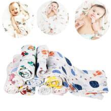 Младенческой Одеяло детские муслина Одеяло s пеленать из мягкого хлопка для новорожденных банное Полотенца пеленать Одеяло s многозначных муслин Kacakid 32813310371