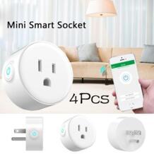 Дома 4 шт. умная розетка Smart Plug Wi-Fi с поддержкой мини Розетки умная розетка Управление электрических устройств отовсюду работает No name 32858690241