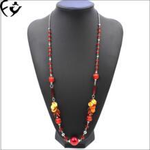 Европа и США и уникальный стиль долго Цепочки и ожерелья из акриловое ожерелье из бисера 18091902 FY 32808038488