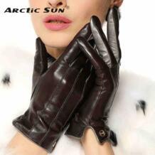 Одежда высшего качества Для женщин перчатки наручные короткие из натуральной кожи перчатки Женская зимняя обувь Термальность овчины для вождения Бесплатная доставка EL031NR No name 2053173640