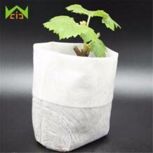 100 шт зеленые экологически чистые Овощные семена пасторальные кармашки для выращивания растений нетканые ткани дышащий Разлагаемый контейнер для саженцев WCIC 32820541565