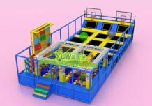 Индивидуальные пены яму батут парк с ниндзя конечно, популярных экстремальных спортивных игр внутреннего батут ниндзя воин YLW-BT180317 No name 32859003379