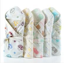 Новорожденный пеленание Одеяло детей 6 слоев Для ванной Shower продукция Полотенца пеленать новорожденного Обёрточная бумага конверт с капюшоном Детский подарок SexeMara 32830227090