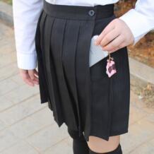 Черный цвет японский Высокая талия в стиле японской школьницы девушки Милая школьная униформа для костюмированного представления юбка с карманом bigdajutu 32218846872