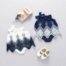 2017 для маленьких девочек Летняя Корейская одежда От 0 до 2 лет детский комбинезончик Платье Одежда для девочек джинсы YEWUDIER 32816993508