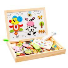 Монтессори игрушки развивающие деревянные игрушки для детей раннего обучения головоломки детские магнитные наклейки игры HBB 32797472031