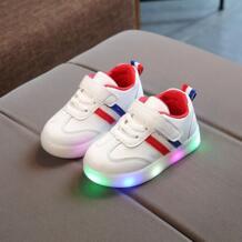 2018 высокое качество светодиодный свет детская повседневная обувь мода мальчиков спортивные туфли для девочек на плоской подошве светящиеся младенческой Первая прогулка кроссовки ZhuHanZhen 32870934132