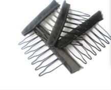 30 шт. черные 7 зубьев в форме оснастки металлические зажимы для плетение для удлиннения волос заколки для парика No name 32851972357