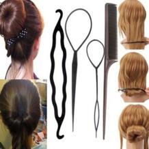 2019 горячая Распродажа четыре штуки Пластик тянуть шпилька для волос Инструменты для укладки волос хобби Стайлинг для волос аксессуары наборы приспособление для укладки волос в узлы BGVfive 32951525060