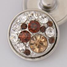 18 мм круглые красивые цветочные rhinstone металлические оснастки бусины античный посеребренный коричневый с кристаллами ювелирные украшения KB3523 partnerbeads 32759869176