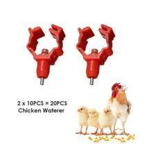 Новое поступление Товары для сельскохозяйственных животных поставки птицы куриное Соски Waterer пьющие Чик Утка Курица полива земледелия Системы 20 шт. No name 32630937915