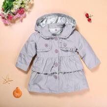 2018 новое платье для маленьких девочек Теплая осень Куртки Дети принцессы для девочек Длинные Куртка с капюшоном Детские платья, пальто оптовая продажа No name 32781277802
