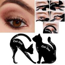 Профессиональные Многофункциональные формы для бровей кошачьей линии инструменты для макияжа Подводка для глаз шаблон формирователь бровей трафаретная модель начинающих эффективно FGHGF 32835858346