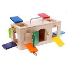 Монтессори красочный замок Box Дети образования Дошкольное обучение игрушечные лошадки OOTDTY 32835863167