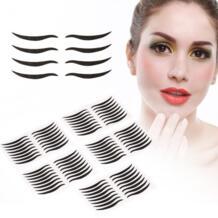 Макияж глаз 40 пар Двойной век Лента черный Невидимый Самоклеющиеся линии глаз полосы Стикеры макияжа с глаз инструмент TMISHION 32854977124