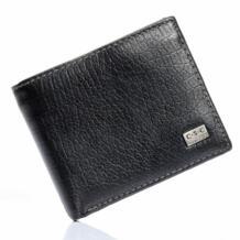 Высокое качество Для мужчин нежный Для мужчин черный теплые двойные Кредитная ID Слот для карты карман на молнии Стандартный кошелек Настоящее Пояса из натуральной кожи кошелек No name 1867613598