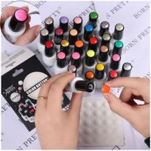 10 шт. 25 шт. цветные кнопки для ногтей УФ-Гель-лак цветной дисплей этикетка Белый силиконовый лейкопластырь инструмент для ногтей Born Pretty 32793069363