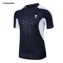 бренд 2018 для мужчин Спорт на открытом воздухе Футбол майки Мужчин's Рашгард быстросохнущая бег футболка Мужской Топ для фитнеса Спортивная FANNAI 32934919261