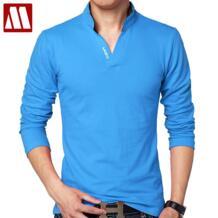 Горячая Распродажа, новинка 2019, модная брендовая мужская рубашка поло, Однотонная рубашка с длинным рукавом, приталенная мужская хлопковая рубашка поло, повседневные мужские рубашки 5XL-in Поло from Мужская одежда on Aliexpress.com | Alibaba Group MYDBSH 32693238888