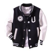 Куртка для маленьких мальчиков От 2 до 14 лет весна 2018 Новый Для детей верхняя одежда для бейсбола пальто Кожа рукавом младенческой Куртки 360 MANJI 32818483059