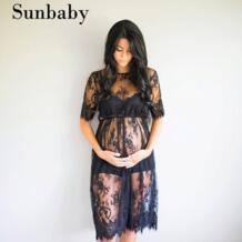 2017 модная летняя одежда для будущих мам сексуальные цветочные кружева беременность платье Фотография Одежда для беременных женщин No name 32820642687