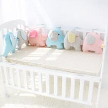 Детская кровать бампер для новорожденных слон кроватки бампер младенческой кроватки промежности Мягкие толстые детские кроватки протектор всего 6 шт. Размеры 180x35 см No name 32827948903