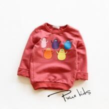2017 г. толстовки для девочек и мальчиков, хлопковые детские футболки с мультяшными принтами для маленьких мальчиков и девочек, куртки с капюшоном, новая весенняя детская одежда No name 32761974928