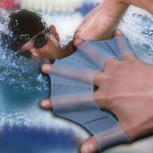 Силиконовые плавники для плавников ручные переплетенные ласты тренировочные перчатки для пальцев тренировочные тканевые перчатки для рук 3 размера LUCKSTONE 32839057012