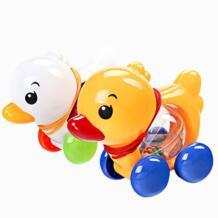 1 предмет Дети детские игрушки традиционный тянуть вдоль утка Пластик игрушки Новорожденный ребенок учиться ходить игрушки-погремушки разные цвета VKTECH 32702149748