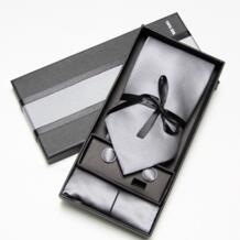 2019 модный широкий галстук, наборы мужских галстуков на шею, платок, запонки, 10 цветов, коробка, подарок, полиэстер, ручная работа Hooyi 1570504815