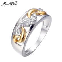 Junxin Горячая Дракон уникальный Дизайн Для мужчин кольцо из белого золота Заполненные Винтаж Свадебная вечеринка Кольца для Для мужчин anelli Uomo rw0102 No name 637012604