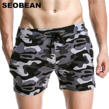 камуфляж шорты Для мужчин Рубашки домашние Фитнес Для мужчин хлопок Jogger SEOBEAN 32729262849