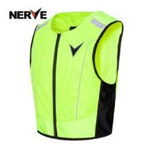Нерва мотоцикл ночной езды высокая видимость жилет куртка флуоресценции Светоотражающие без рукавов Одежда жилет для мужчин и женщин NERVE 32796775748