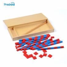 Детские игрушки маленькие Счетные палочки Математика Монтессори обучения и образования классические деревянные детские игрушки Brinquedos Juguetes No name 1859998876
