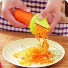 Новый 1 шт. овощей Spiralizer терка для овощей спиральный измельчитель нож Spiralizer для моркови огурец кабачок Кухня Инструменты гаджет No name 32953715163