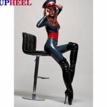UPHEEL лакированные блестящие балетки выше колена на шпильке 18 см высокие сапоги до бедра на высоком каблуке-шпильке 17 7 см пикантные женские сапоги на шнуровке No name 2021870794