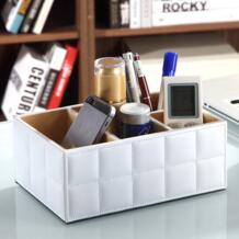 Роскошный PU кожаный ящик для хранения дистанционного управления держатель телефона домашний косметический Органайзер для хранения коробки SANGEMAMA 32623885128