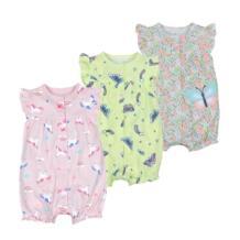Распродажа, лето 2019, одежда для маленьких девочек, сплошной комбинезон, одежда для малышей, хлопковый короткий комбинезон, одежда для маленьких девочек, roupas OrangeMom 32814384505