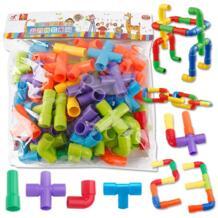 Креативные туннель из труб блоки пластик DIY сборка водопровода строительные блоки модель Обучающие игрушки для детей No name 32863522594